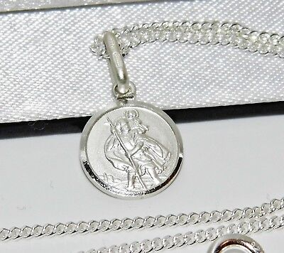 Sterling Silver St Christopher Pendant 925 Silver ~ Choice Of Chain - Gift Boxed • 5.95£
