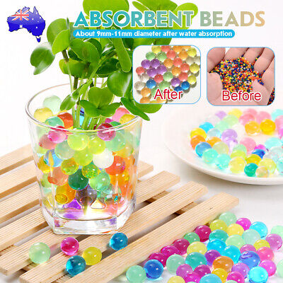 AU8.76 • Buy 50000pcs Crystal Water Balls Jelly Gel Beads For Vases Orbeez MultiColor AU