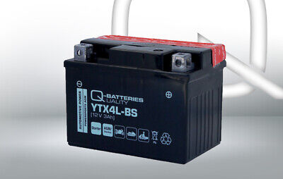 Genuine YTX4L-BS High Power AGM Motorbike Motorcycle Battery YTX4LBS • 18.99£