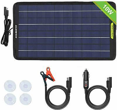 AU34.99 • Buy 12V 5W 10W Portable Solar Panel Battery Charger Backup For Car Boat Batteries