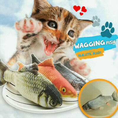 AU12.99 • Buy Cat Wagging Fish Realistic Plush Toy Simulation Catnip Soft Gift Pet Chewing AU