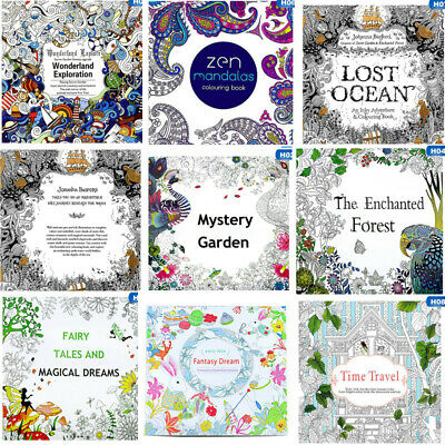 AU3.77 • Buy 12 Style Art Therapy Colouring Book Paperback: Adult Coloring Books Arts Au