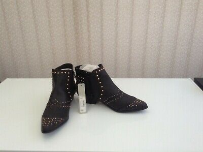 Ladies Studded Ankle Boots Size 7 Wide Fit -Red Herring . • 25£