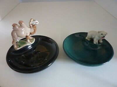 Rare Wade Whimsies Whimtrays Series 1, Polar Bear Cub & Camel, Ireland, England. • 19.50£