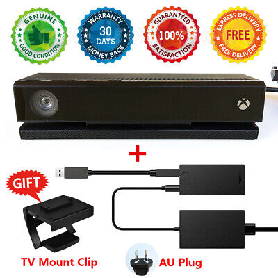 AU199 • Buy Microsoft Official Genuine XBOX ONE KINECT SENSOR + POWER ADAPTER X S -- BUNDLE