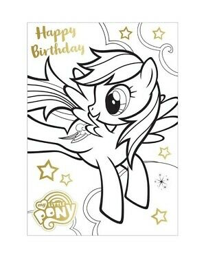Danilo My Little Pony Birthday Card Colour In Poster Card  • 2.49£