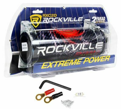$ CDN45.37 • Buy Rockville RXC2D 2 Farad Stiffening Power Capacitor With LED Digital Volt Meter