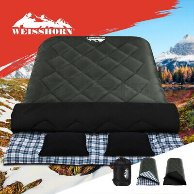 AU64.90 • Buy Weisshorn Sleeping Bag Bags Double Camping Hiking -10°C Tent Winter Thermal