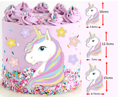 AU11.96 • Buy Magical Unicorn PRE-CUT Edible Icing Cake Topper Image Party Decoration #167