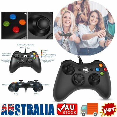 AU23.53 • Buy Black Xbox 360 Wired Controller For Windows & Xbox 360 Console PC USB Wired KC