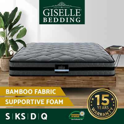 AU199 • Buy Giselle Bed Mattress Queen Double King Single Firm Foam Pocket Spring 22cm