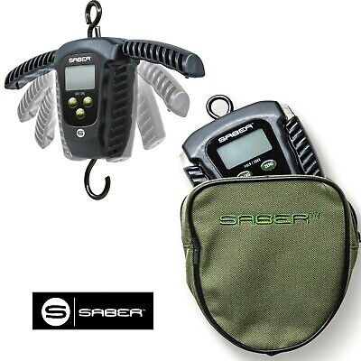£32.95 • Buy Saber Digital Folding Fishing Scales And Pouch Electronic Weigh Carp 110lb 50kg