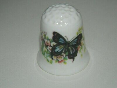 Coalport China Thimble.Featuring An Androcles Plain Tiger Butterfly • 3.50£