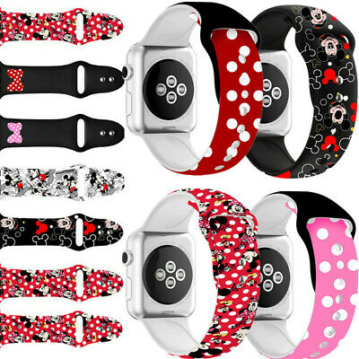 $ CDN13.87 • Buy Lovely Mickey Mouse Band Wrist Strap For Apple IWatch Band 38mm 40mm 42mm 44mm