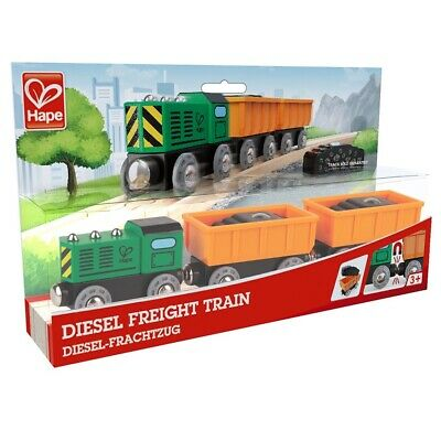 Diesel Freight Train For Wooden Railway By Hape - E3718 • 12.49£