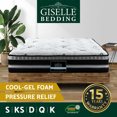 AU279.90 • Buy Giselle Mattress Queen Double King Single Bed Pocket Spring Plush 35cm