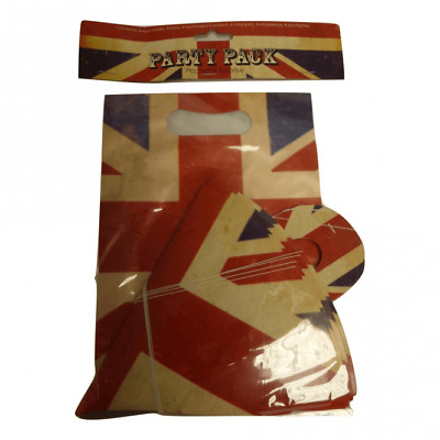 £4.99 • Buy Union Jack GB Royal British Street Party Pack Goody Loot Bag Paper Hat Mask