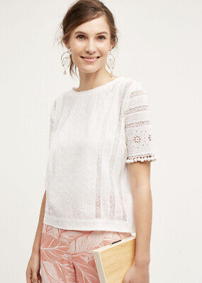 $ CDN56.96 • Buy NEW Anthropologie Seen Worn Kept Mieke Embroidered Top Blouse Size Medium