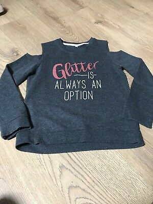 Girls Off The Shoulder Jumper Age 10-11 Vgc • 2.99£
