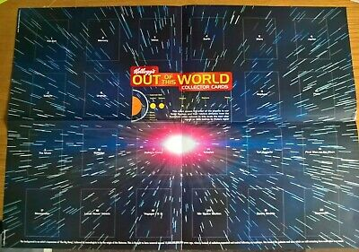Kelloggs Cereal Trade Cards: Out Of This World Empty Unused Wallchart Poster • 7.99£