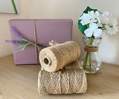 £2.65 • Buy 10M 3ply Thick Natural Jute Twine Hessian Rustic Christmas String Brown Craft