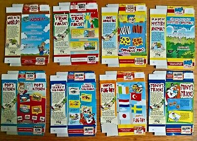 Kelloggs Cereal Trade Cards: Lift The Flap Complete Full Set Package Issue • 5.99£