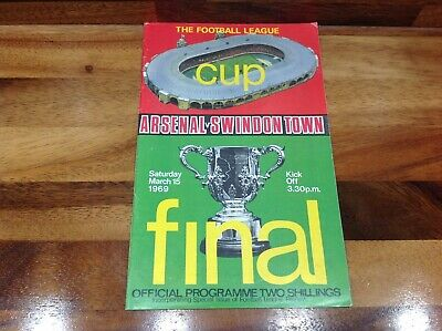 Very Good Condition 1969 League Cup Final Programme Arsenal V Swindon Town • 3.95£