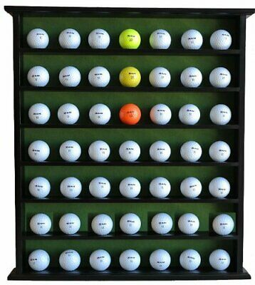 Large Golf Ball Cabinet Display Case Rack W/ 49 Ball Slot & Felt Interior • 41.93£