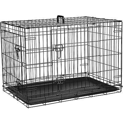 £39.99 • Buy Dog Cage Puppy Pet Crate Carrier - Small Medium Large S M L XL XXL Metal