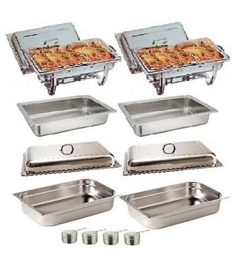 £40 • Buy Pack Of 2 Olympia Stainless Steel Chafing Dish Sets