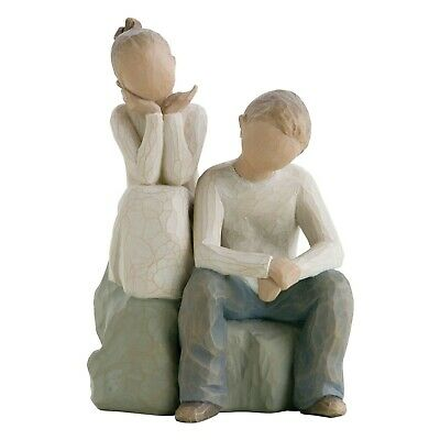 £29.75 • Buy Willow Tree Brother & Sister Figurine 26187 In Branded Gift Box