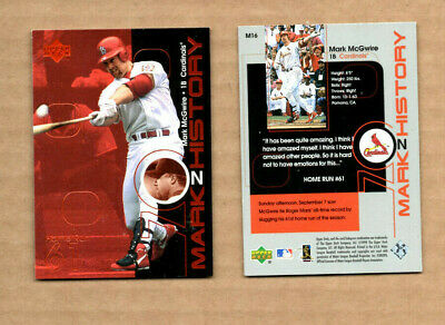 $2 • Buy 1999 Upper Deck Challengers For 70 Mark On History #M16 Mark McGwire
