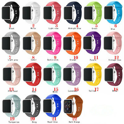$ CDN7.87 • Buy  Silicon Watch Band For Apple IWatch Strap Watch Series 6-1 38mm 40mm 42mm 44mm
