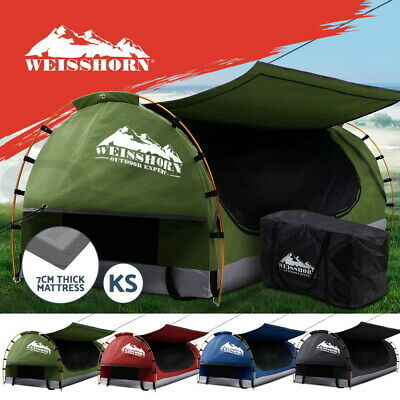 AU239.90 • Buy Weisshorn King Single Swag Camping Swags Canvas Dome Tent Hiking Beach 4 Colours