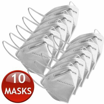 AU47.95 • Buy 10 X KN95 N95 FFP2 FACE MASK PARTICULATE DISPOSABLE ANTI DUST MEDICAL SURGICAL