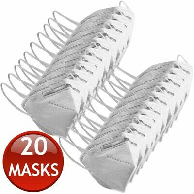 AU89.95 • Buy 20 X KN95 N95 FFP2 FACE MASK PARTICULATE DISPOSABLE ANTI DUST MEDICAL SURGICAL