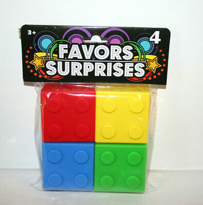 $12.95 • Buy NEW Building Blocks Lego Party Favors Plastic Boxes With Lid Set Of 4