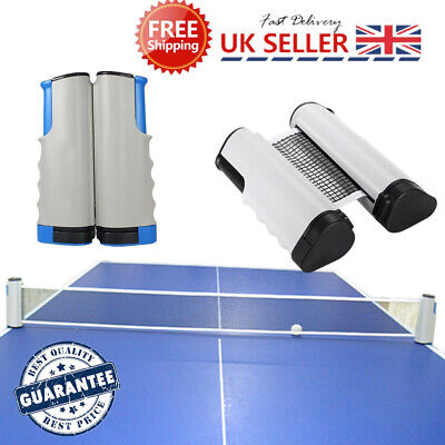 Games Retractable Table Tennis Ping Pong Portable Net Kit Replacement Set UK NEW • 7.89£