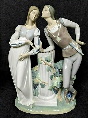 $459 • Buy Retired Lladro  Romeo And Juliet  Statuette 17.5  Tall Mint Condition