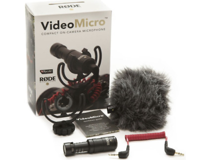 RODE VideoMicro Compact On-Camera Microphone DSLR Blogger Youtuber Mic Pro Video • 63.99£