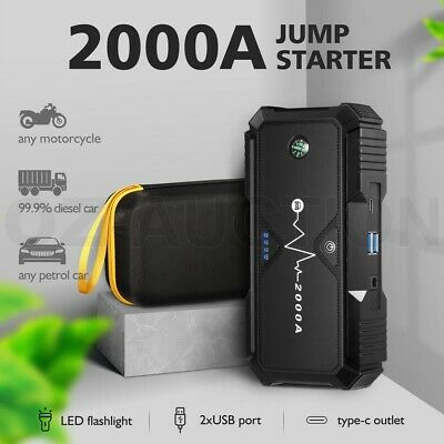 AU159.95 • Buy 38800mAh 12V Car Jump Starter Power Bank Vehicle Battery Charger Booster 2000A