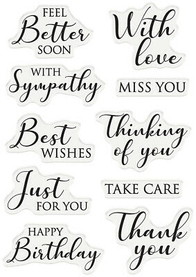 Nature's Garden Lily Collection Clear Acrylic Papercraft Stamp - Words Of Love • 4.55£