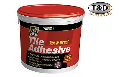 Fix And Grout Tile Adhesive 1.5KG Bathrooms, Kitchens & Showers Wall Tiles  • 7.50£