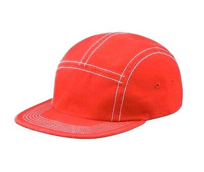 $ CDN72.28 • Buy Supreme Fitted Rear Patch Red Camp Cap Hat Authentic