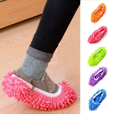 Duster Microfibre Shoe Sock Slippers Mop Dust Remover Cleaning Floor Polisher • 2.64£