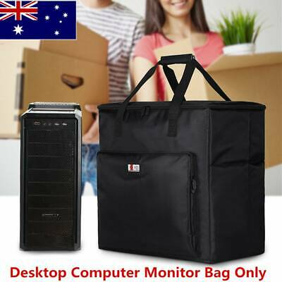 AU57.81 • Buy Desktop Computer Carrying Case Travel Padded Carry Tote Tower PC Chassis Bag AU