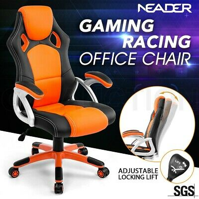 AU159.95 • Buy Racing Office Computer Chair Executive Home Gaming Seat PU Leather Deluxe Orange
