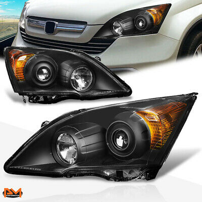 $177.89 • Buy For 07-11 Honda CRV Projector Headlight Replacement Black Housing Amber Corner