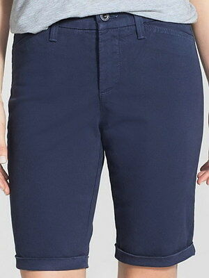 $19.99 • Buy Not Your Daughters Jeans NYDJ Tummy Tuck Heritage Blue Cuff Shorts Size 18P