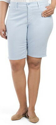 $19.99 • Buy Not Your Daughters Jeans NYDJ Tummy Tuck Blue Bonnet Shorts Size 24w
